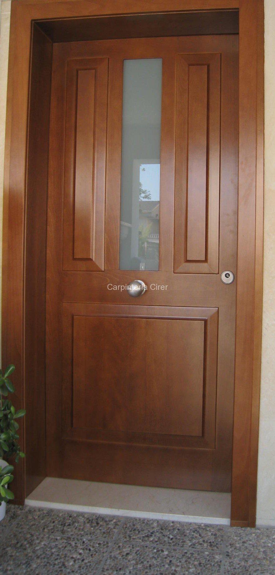 puerta madera entrada cirer