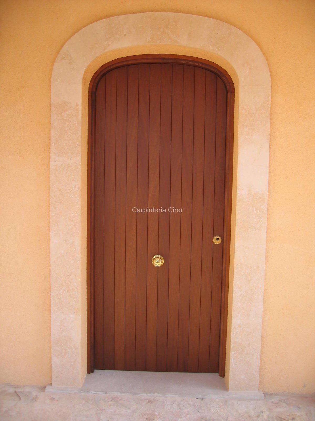 madera puerta cirer